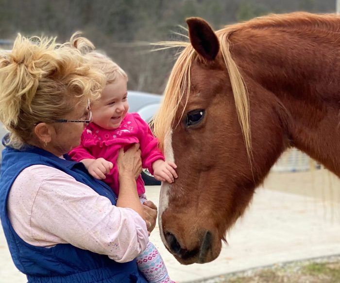 A special horse friend and Katrina Andrews