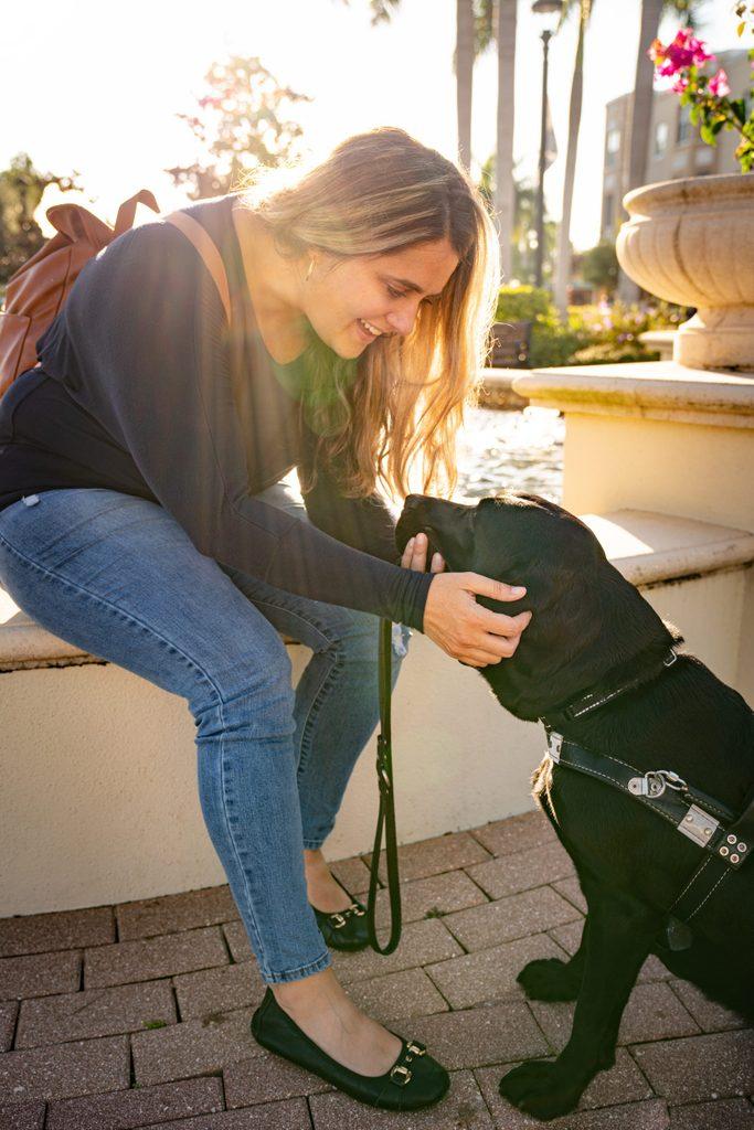 seeing eye dog and Rachel Weeks
