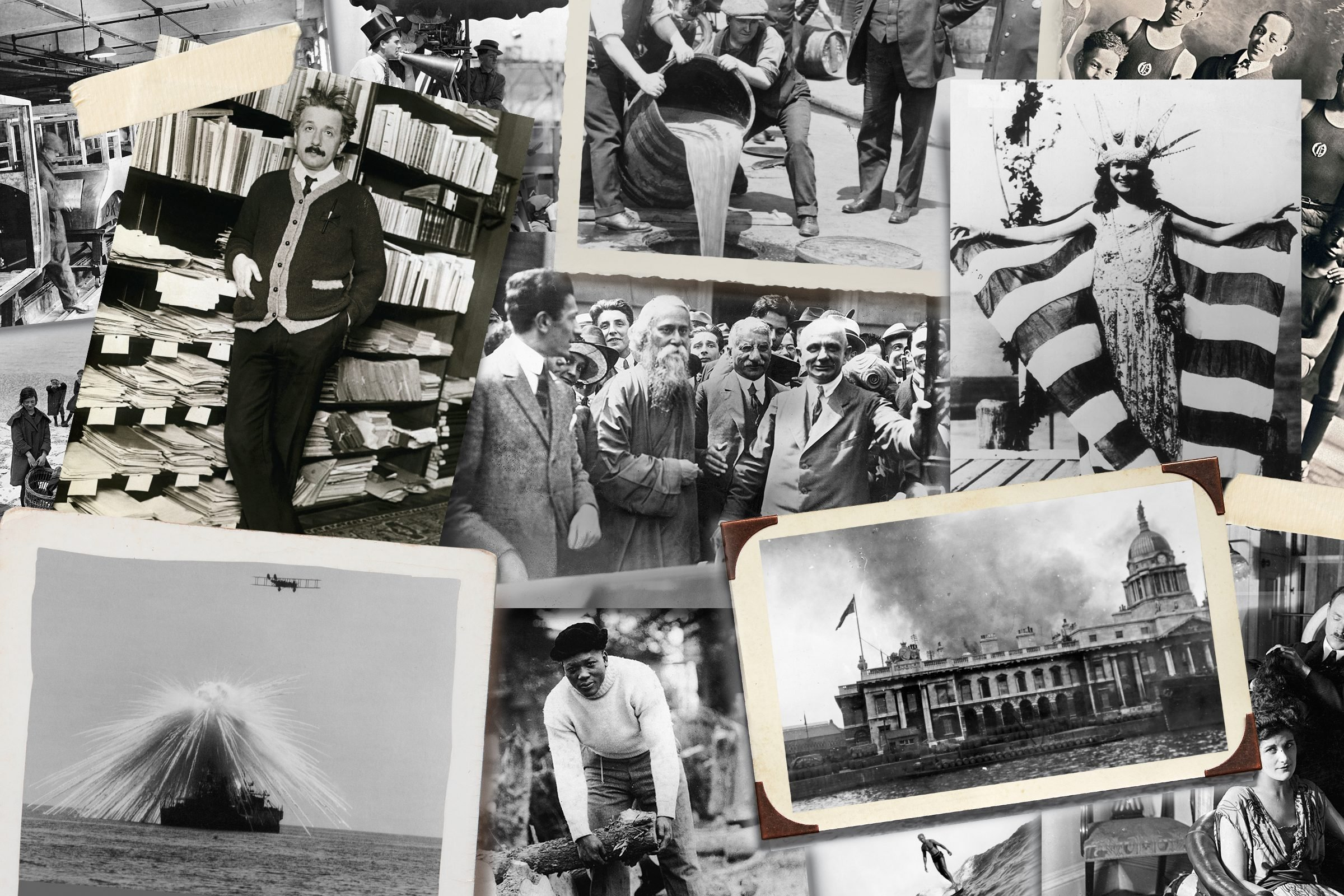 Collage of historical photos