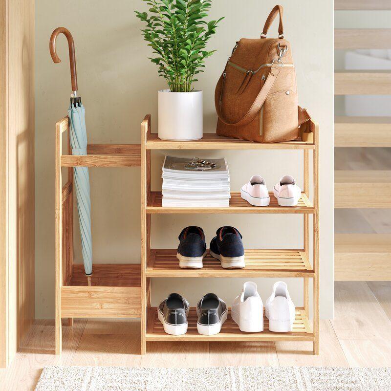 Bamboo Entryway Shoe Rack