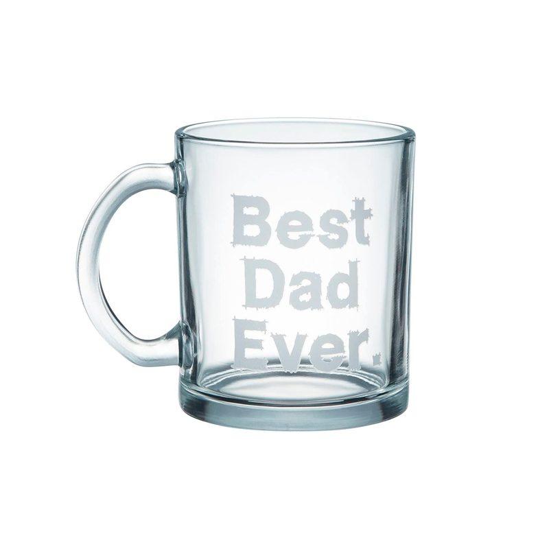 Best Dad Ever Clear Glass Coffee Mug
