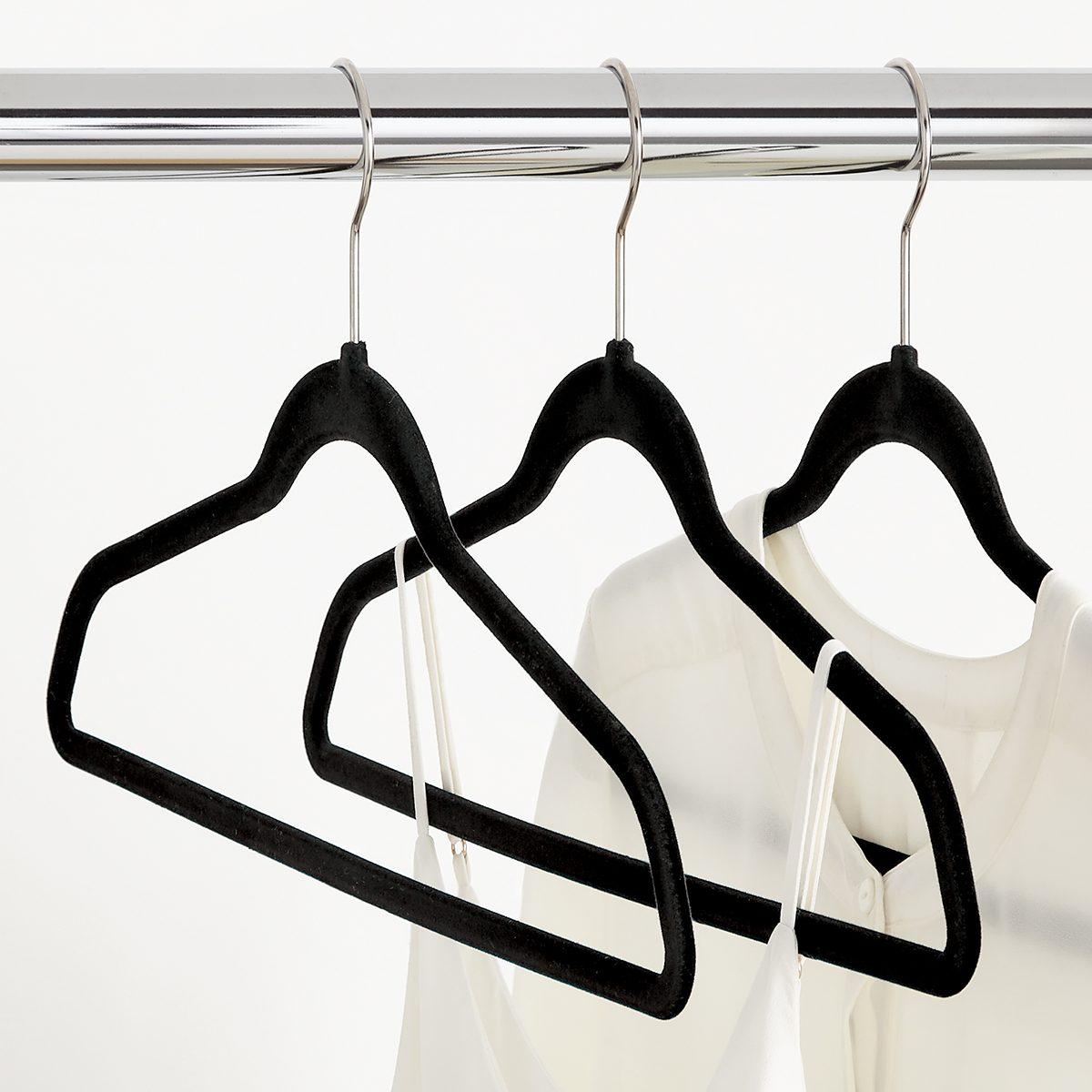 Black Premium Non Slip Velvet Suit Hangers