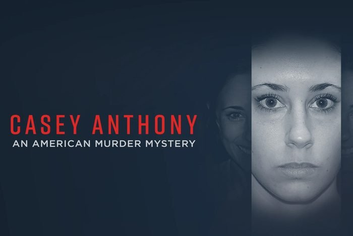 """Photo of women staring into camera next to text """"Casey Anthony: An American Murder Mystery"""""""