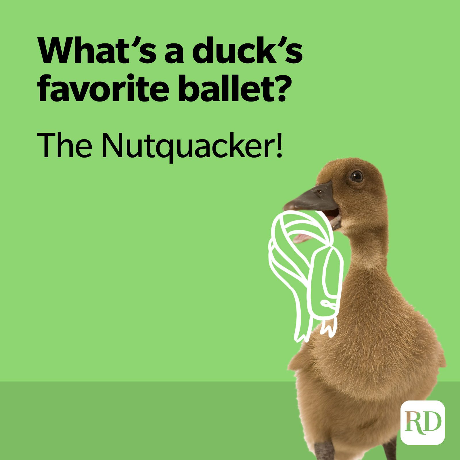 What's a duck's favorite ballet? The Nutquacker!