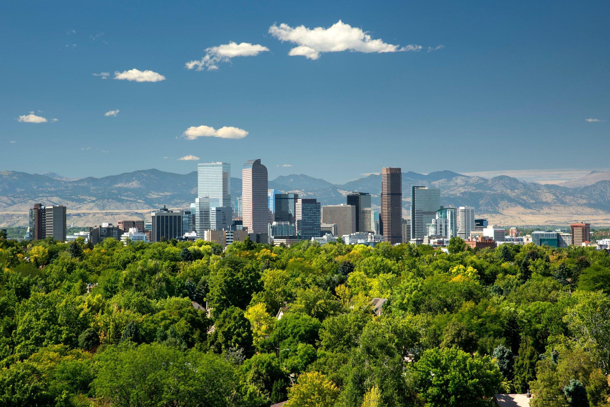 Skyline, Neighborhoods, Front Range, Rocky Mountains, Denver, Colorado
