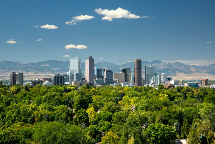 Skyline, Neighborhoods, Front Range, Rocky Mountains, Denver, Colorado