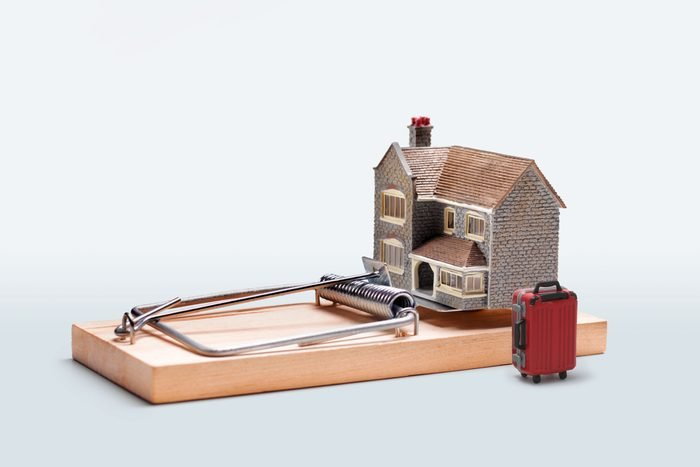 airbnb vacation rental set in a mousetrap
