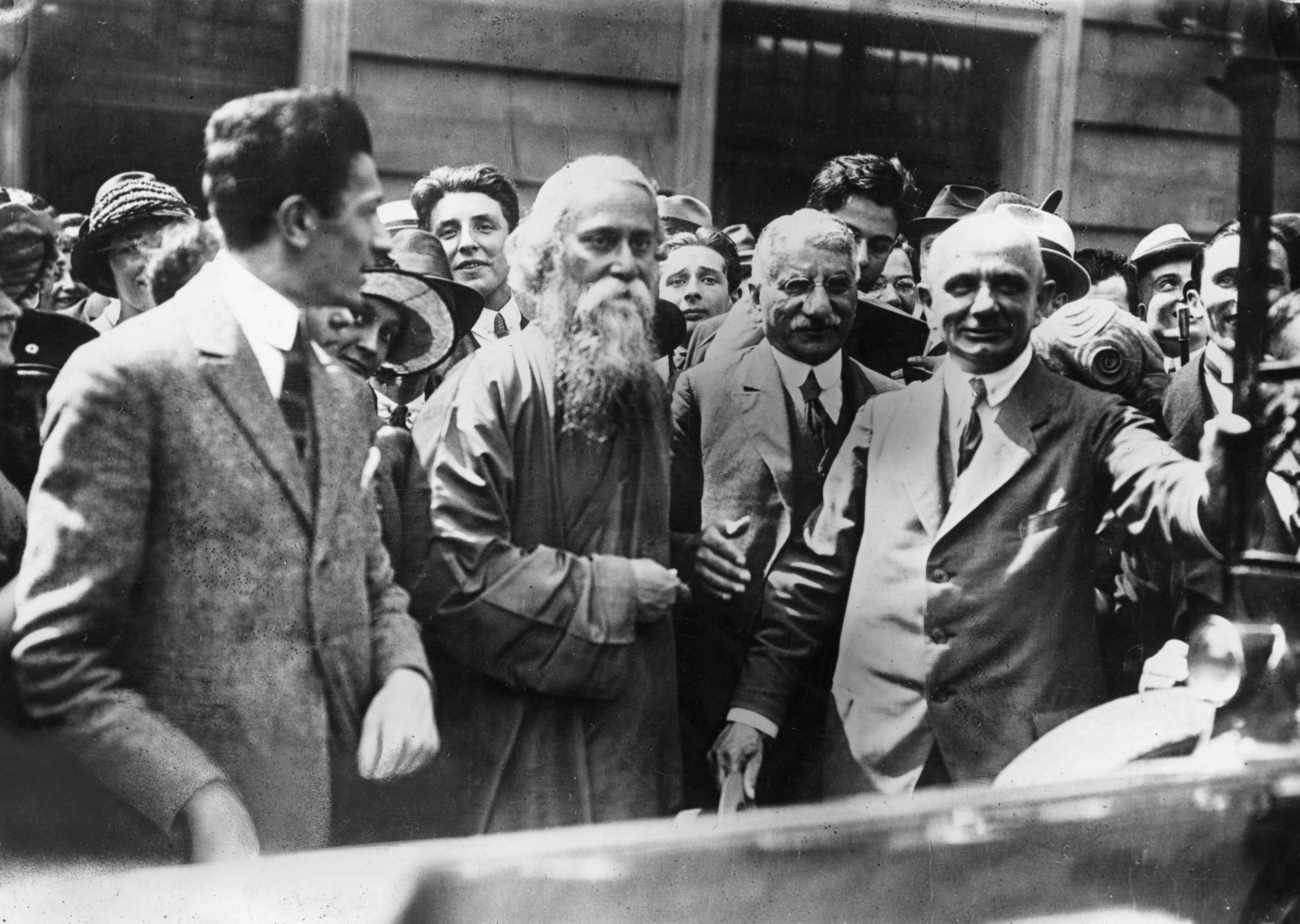 Indian poet and philosopher Rabindranath Tagore in London.