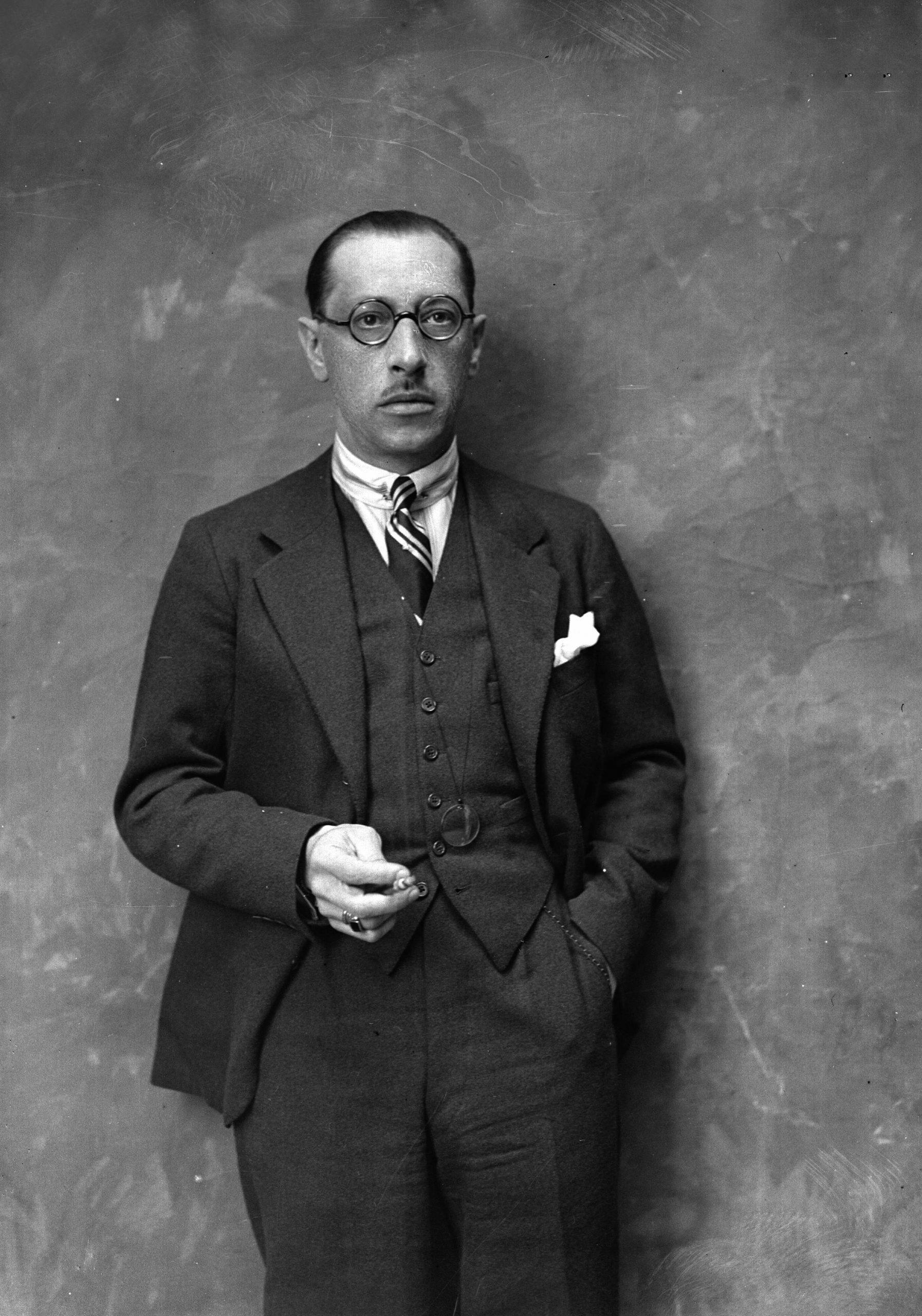 Portrait of Igor Stravinski, composer from Russian