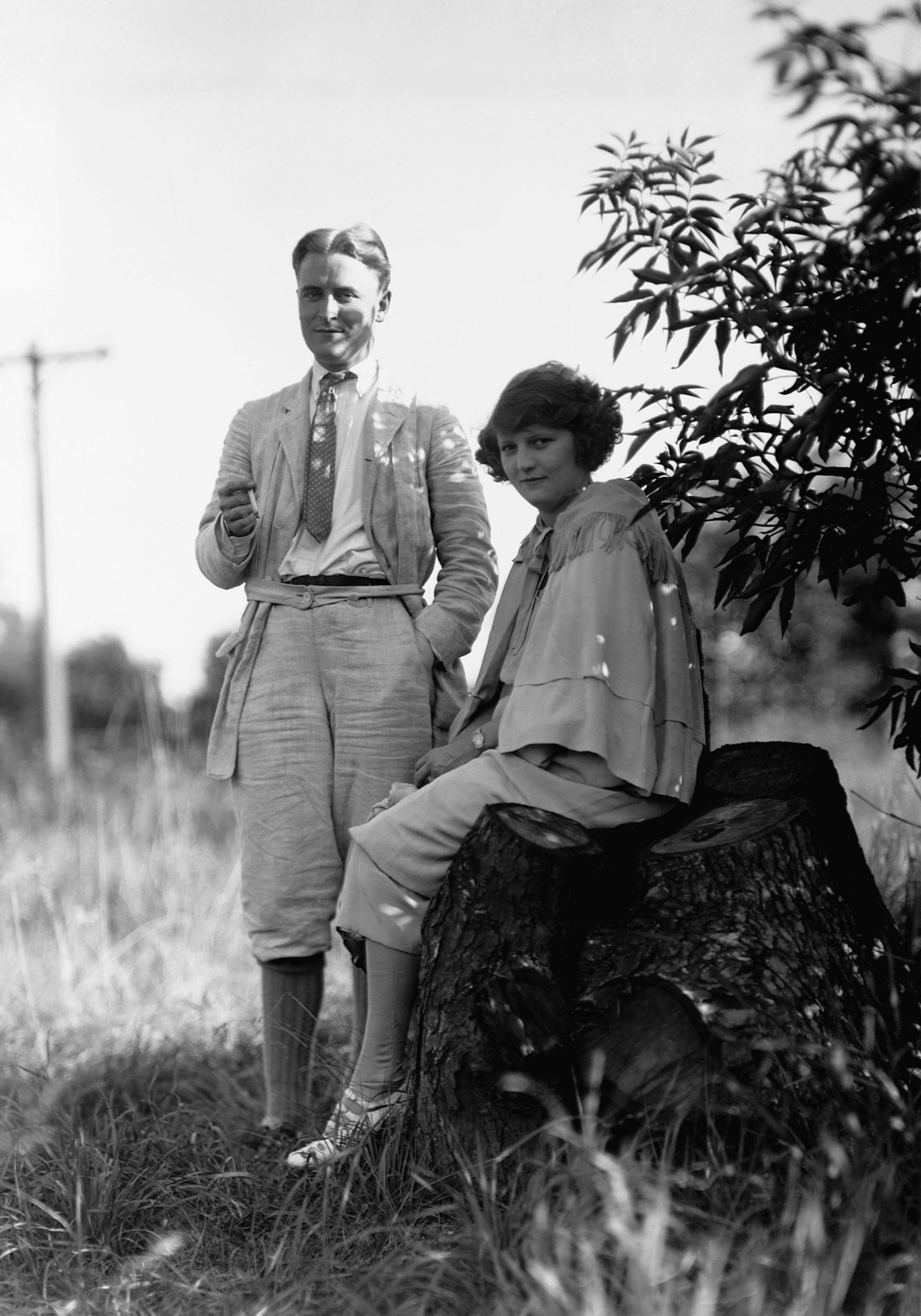 F. Scott and his wife Zelda Fitzgerald