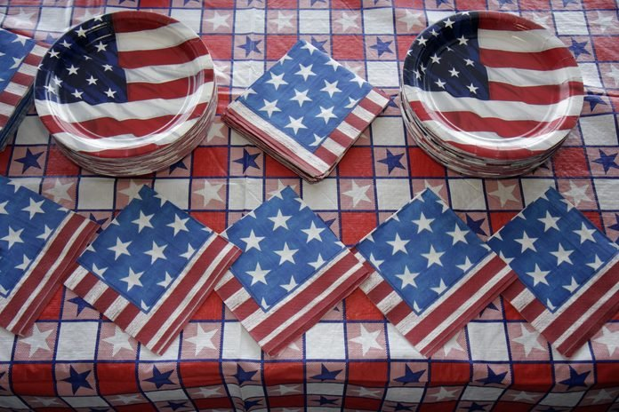 4th of July themed party decorations.