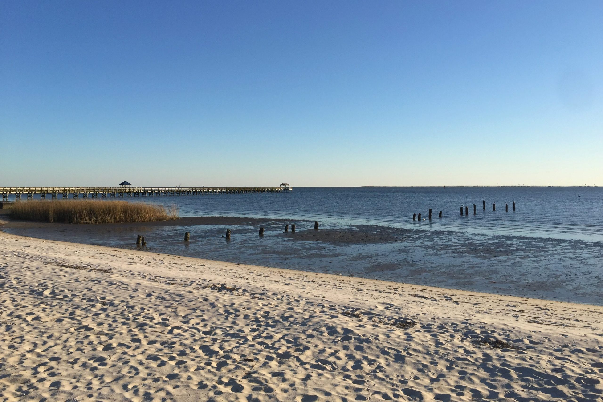 Beach, Ocean Springs, Mississippi, America, USA