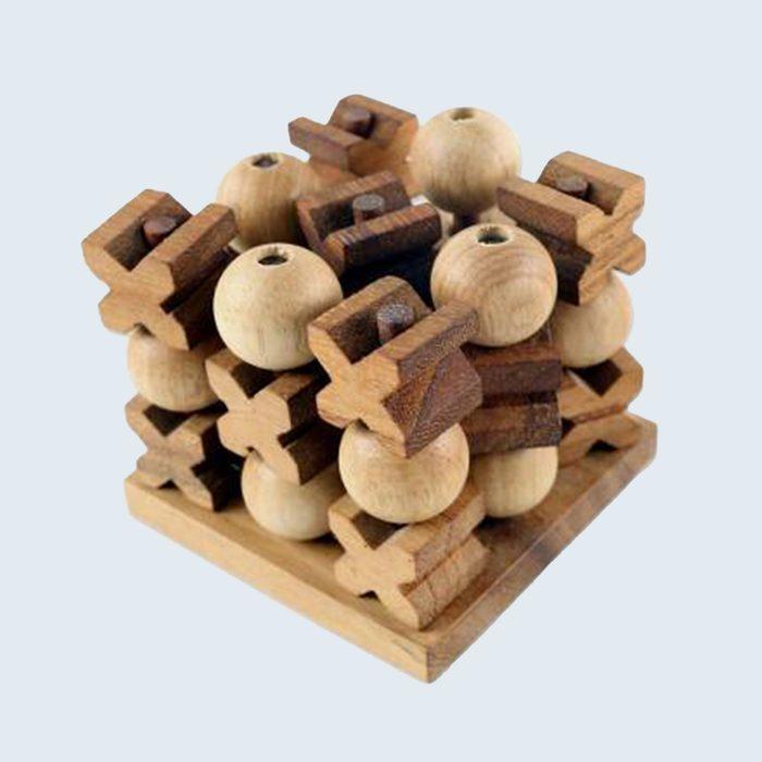 Handmade Wood Game Tic Tac Toe