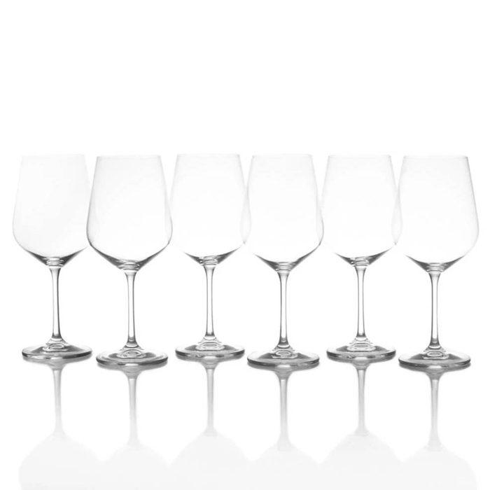 Mikasa Gianna Set Of 6 Red Wine Glasses