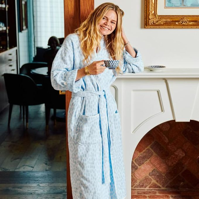 Long Patterned Robe from Weezie