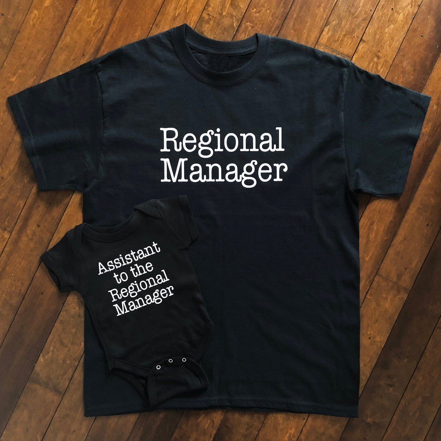 Regional Manager Shirt And Assistant To The Regional Manager Onesie