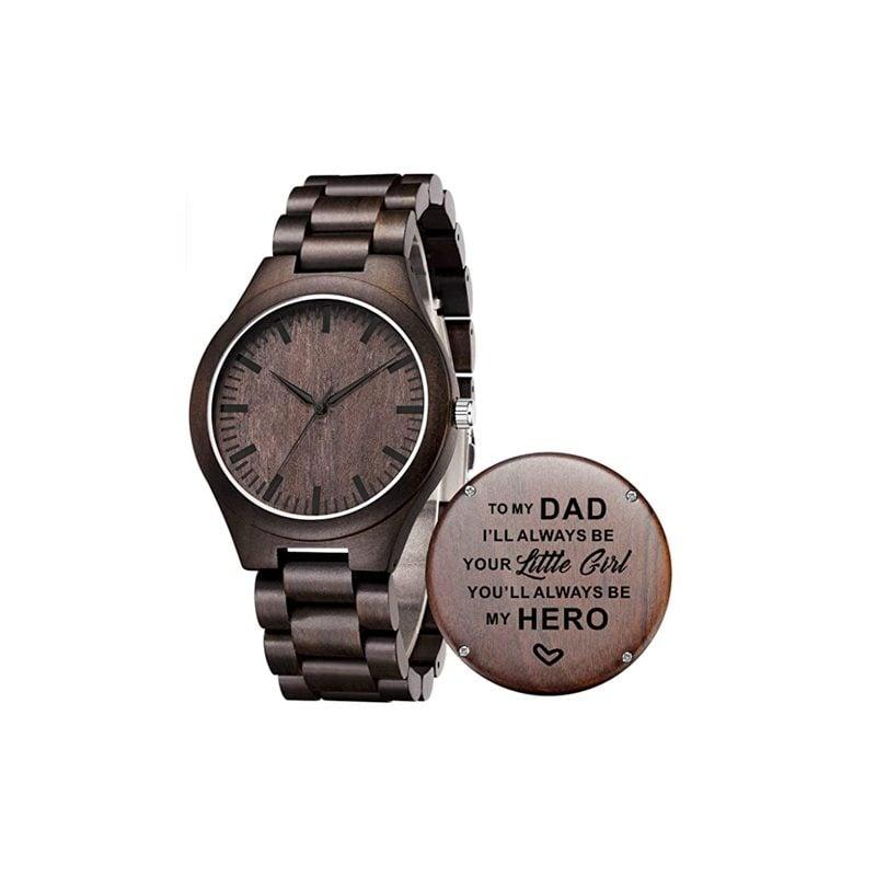 Tgha Engraved Wooden Watch