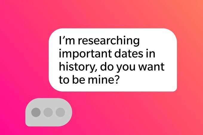 Tinder Pick Up Lines Researching Important Dates