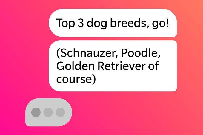 Tinder Pick Up Lines Top Three Dog Breeds Go