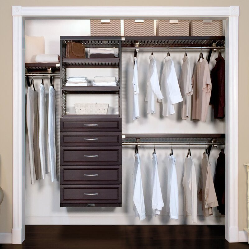 Woodcrest Closet System Reach In Sets