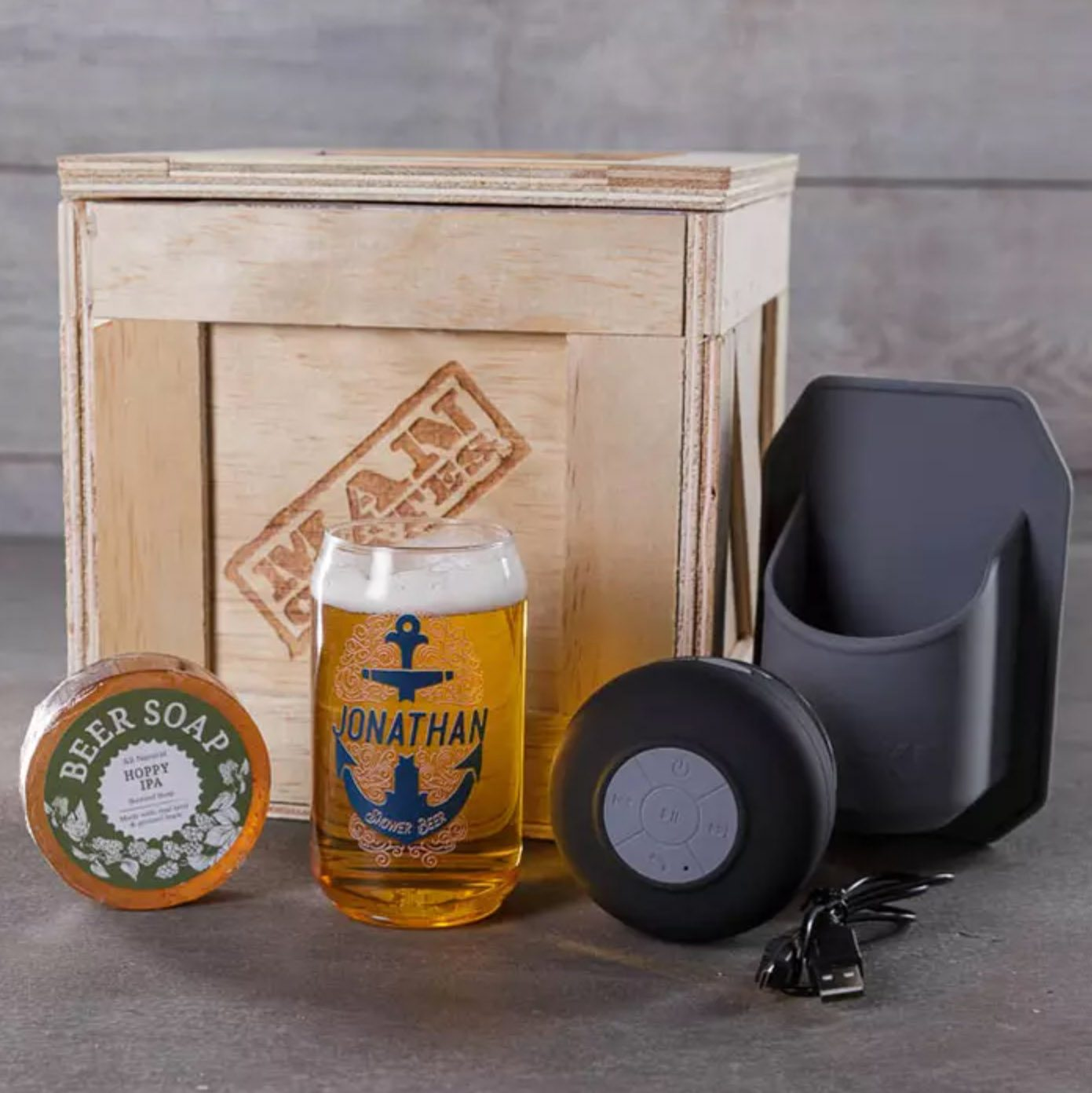 Man Crates Personalized Shower Beer Crate