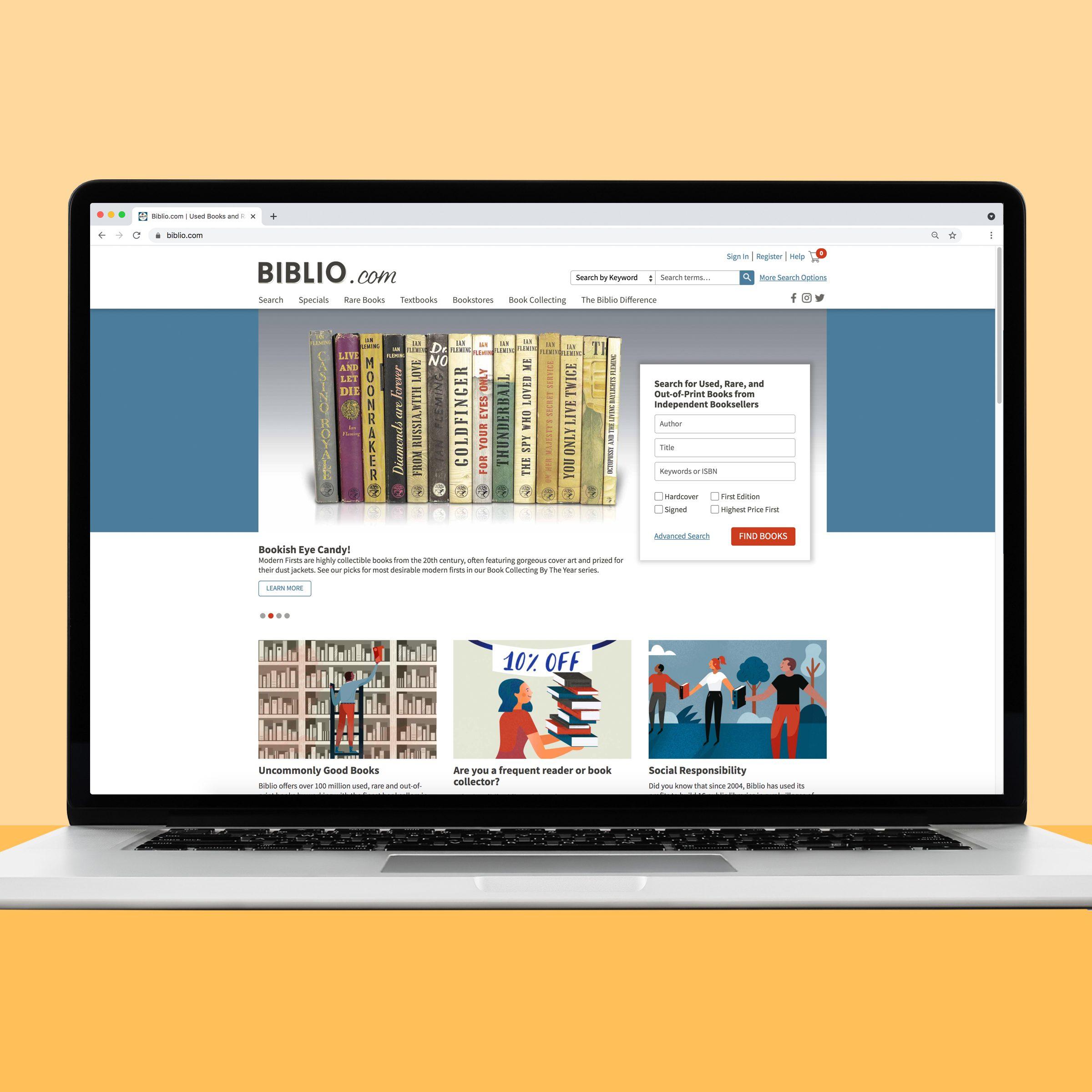 Biblio used book website