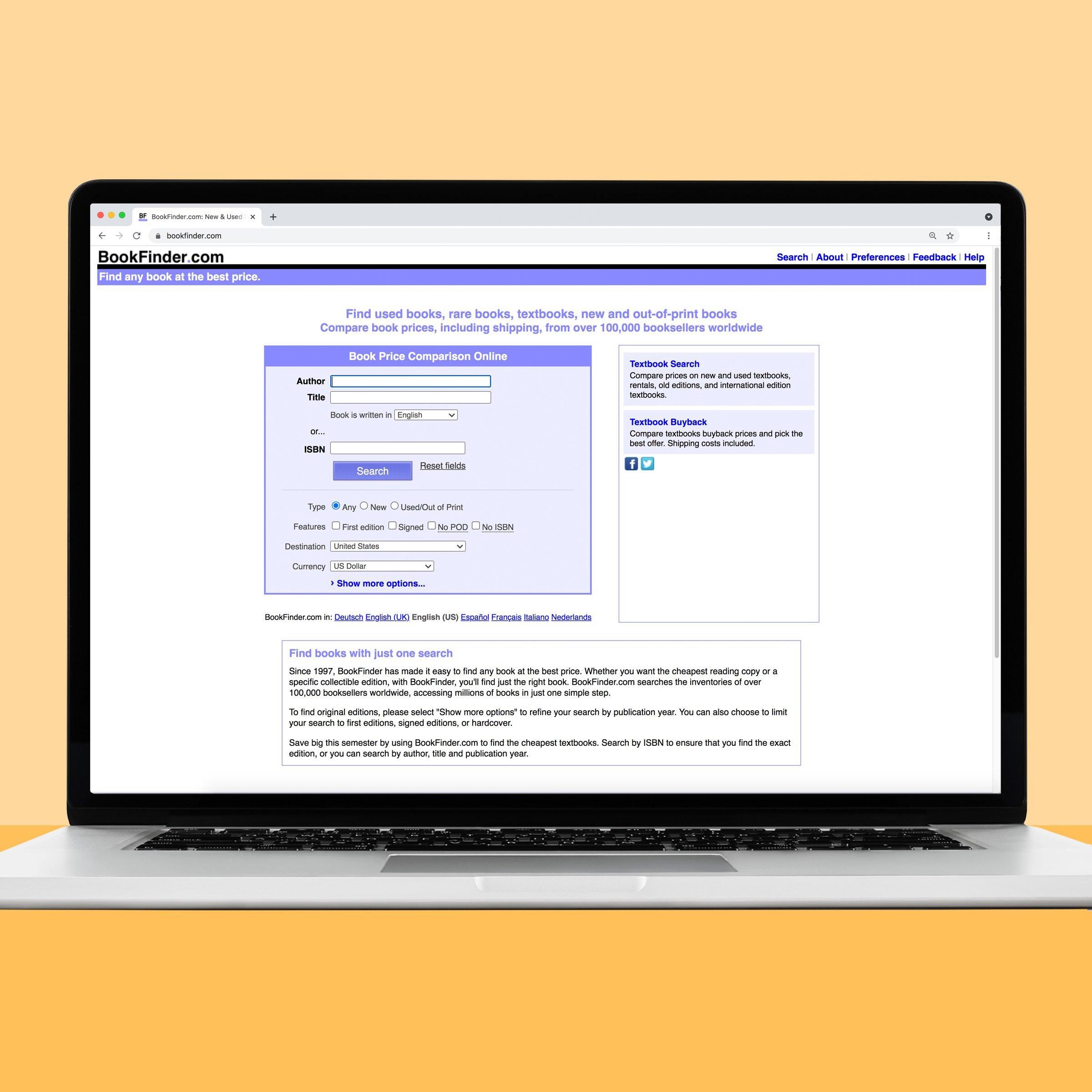 Bookfinder online book source