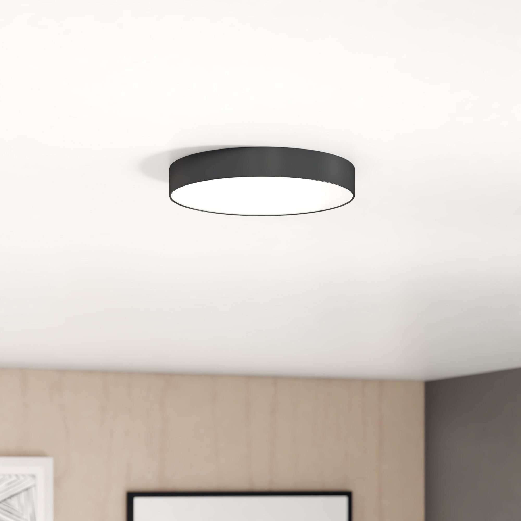 Warrenton 1 Simple Circle LED dimmable light for the closet