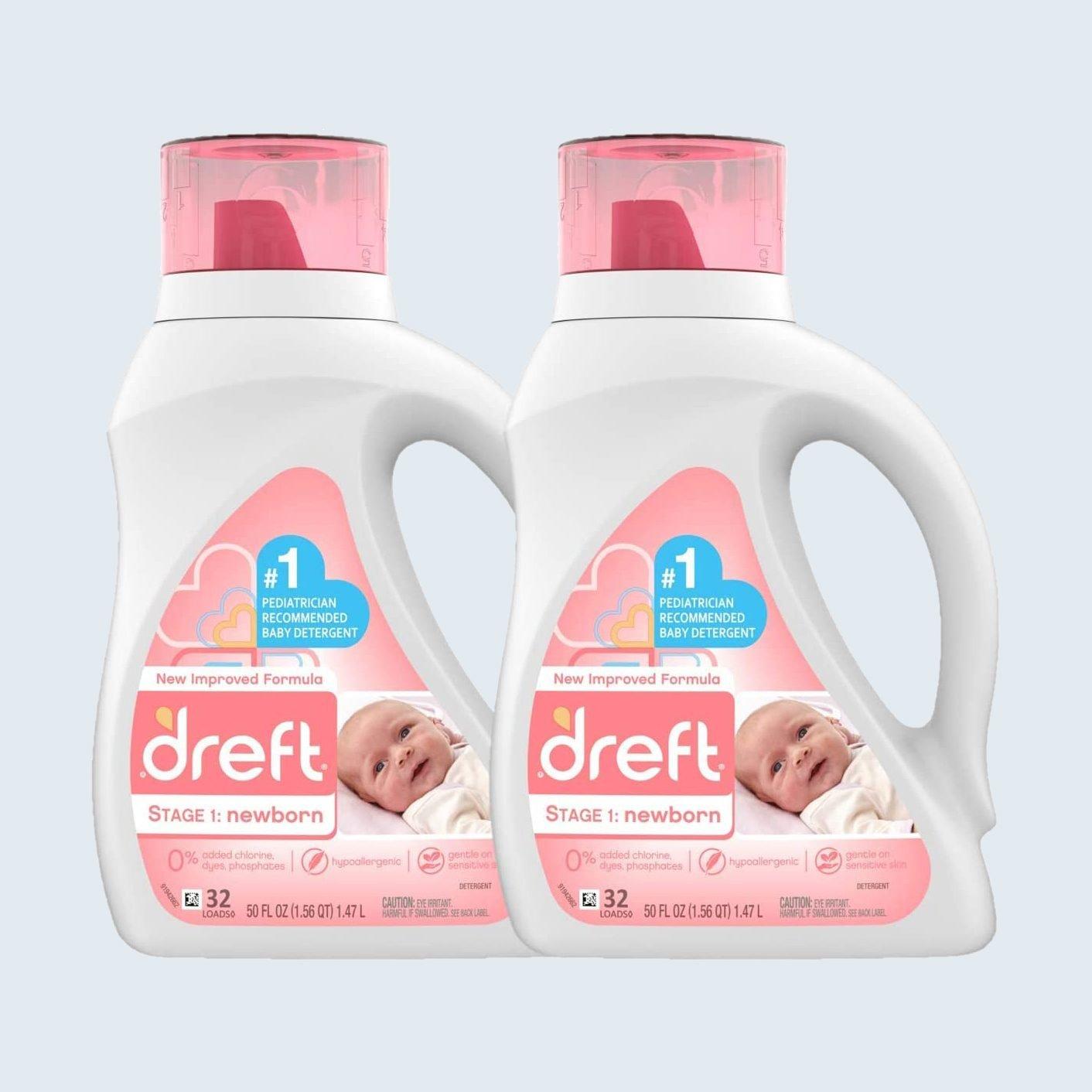 Dreft Stage 1: Newborn Hypoallergenic Liquid Laundry Detergent