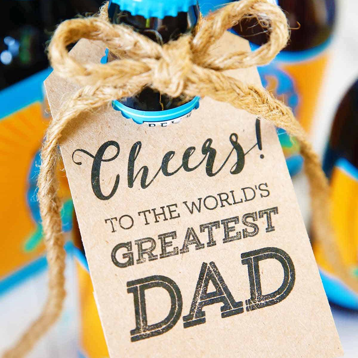 Bottle tags for Dad