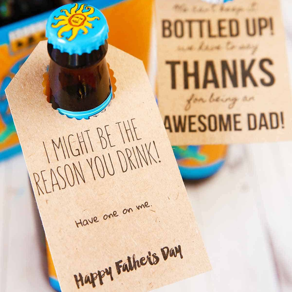 Father's Day Beer tags