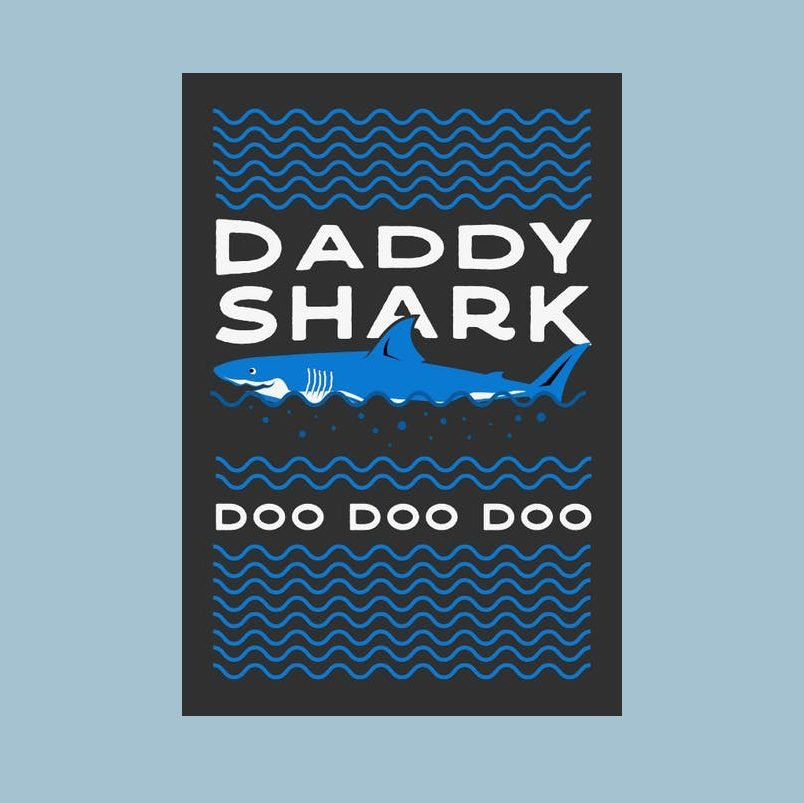 Daddy shark Fathers day card