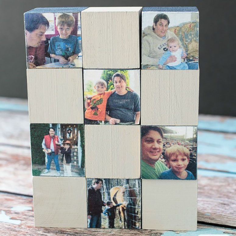 Photo blocks for Dad
