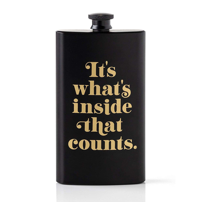 Brass Monkey It's What's Inside That Counts Pocket Flask