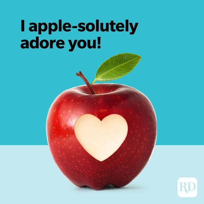 Fruit Puns Apple Solutely Adore You