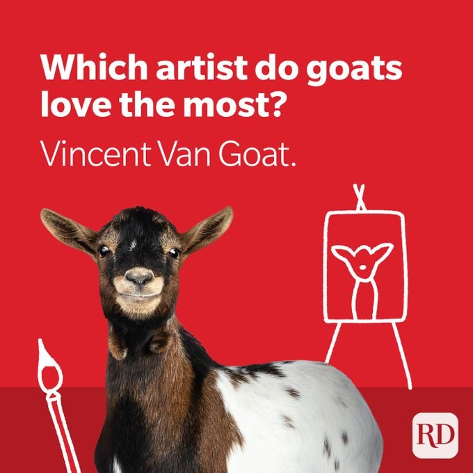 Artist goat with paintbrush and canvas