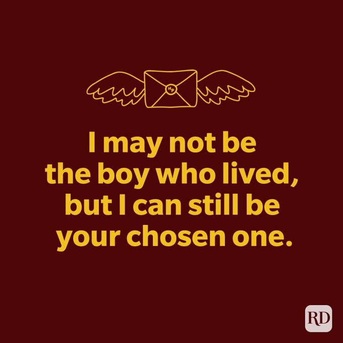 I may not be the boy who lived, but I can still be your chosen one.