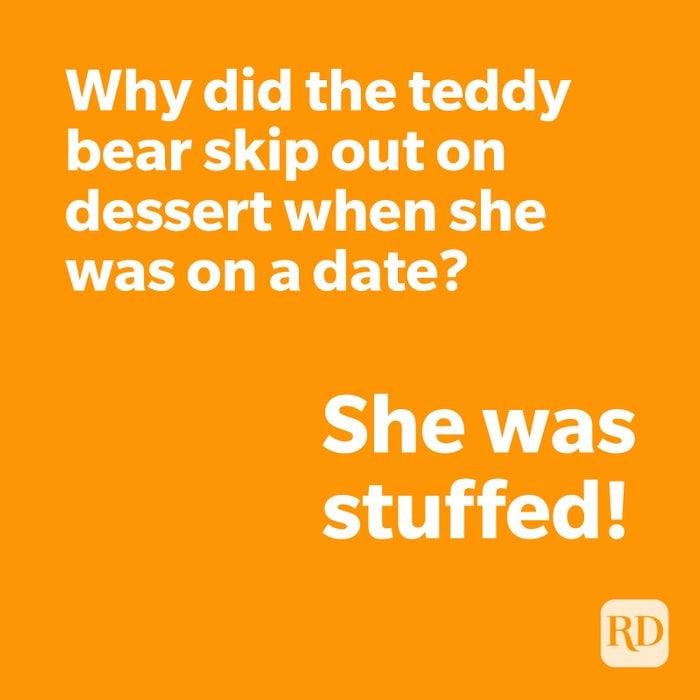 Teddy bear joke on orange