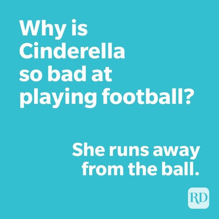 Cinderella joke on blue