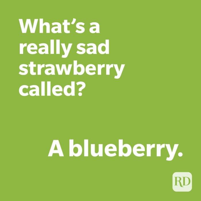 Blueberry joke on green