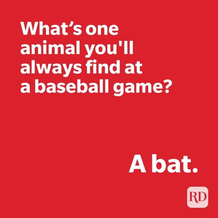Bat joke on red