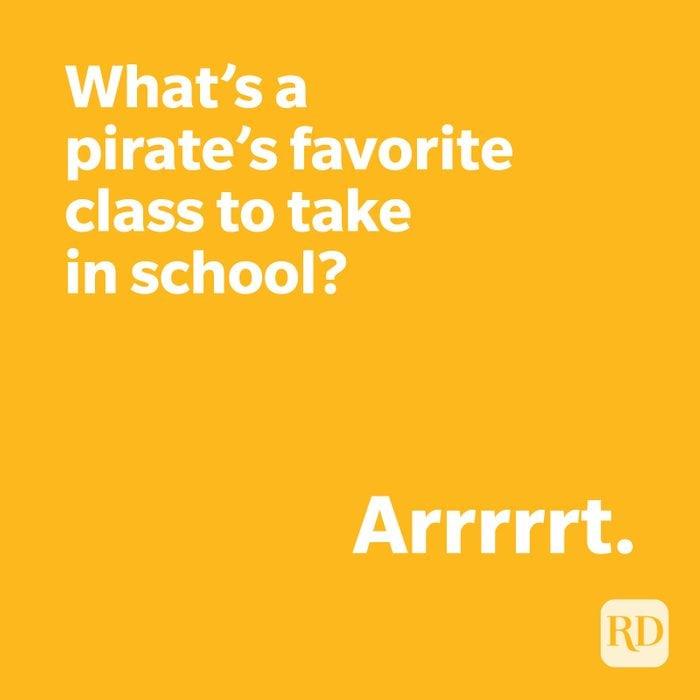 Pirate joke on yellow