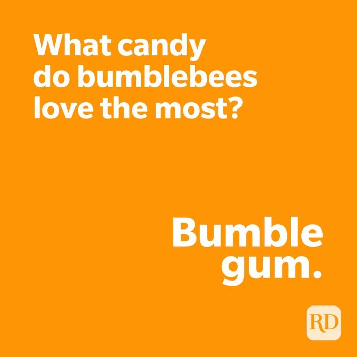 Candy joke on orange