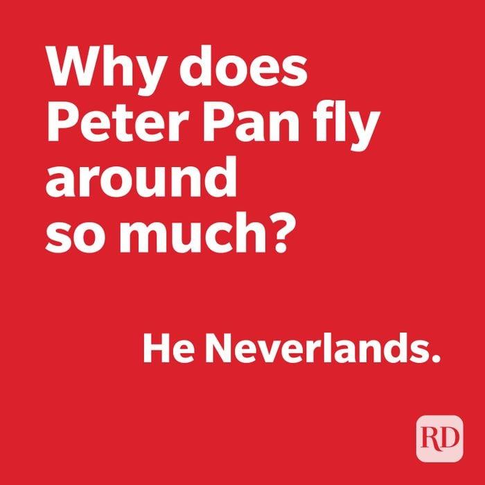 Peter pan joke on red