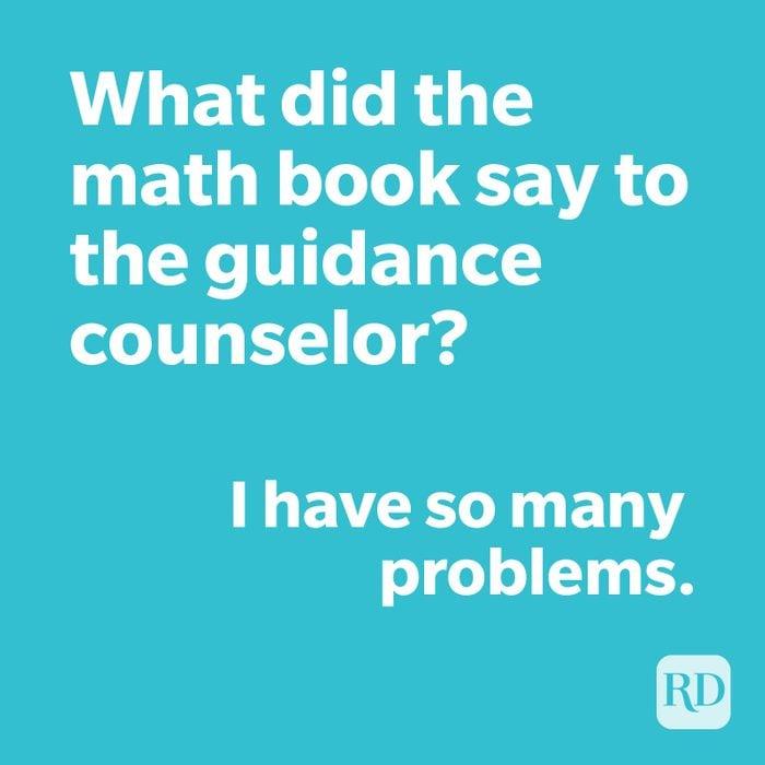 Math joke on blue