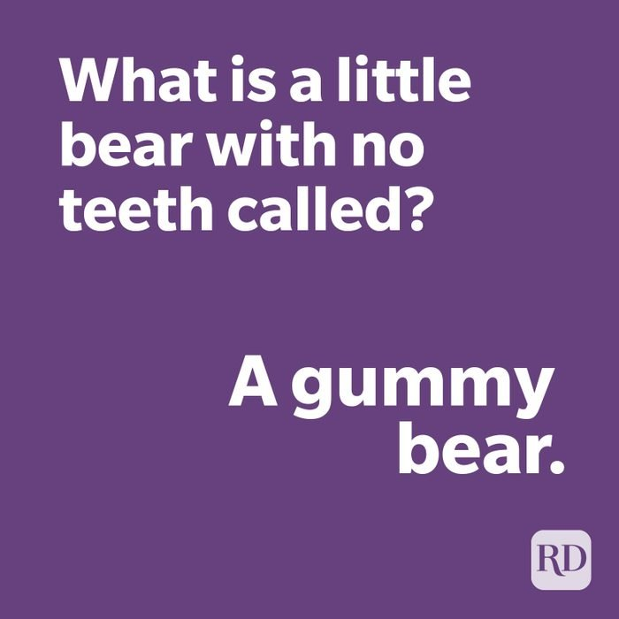 Gummy bear joke on purple