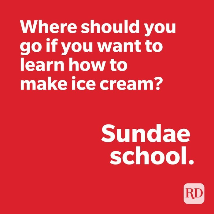 Ice cream joke on red
