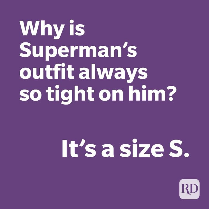 Superman joke on purple