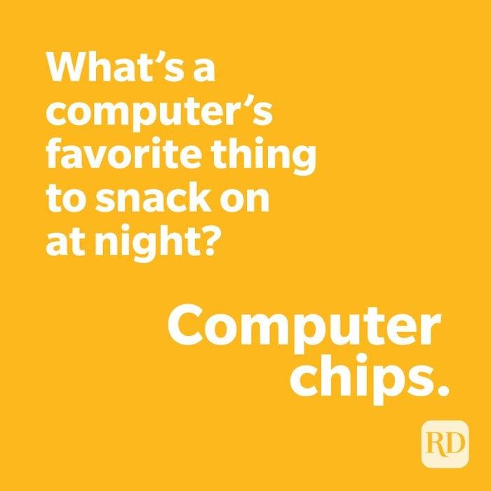 Computer joke on yellow