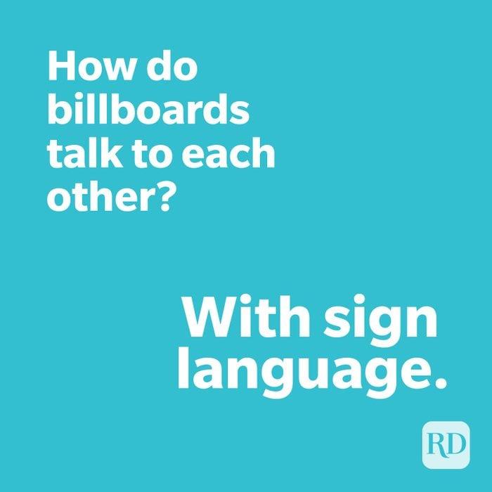 Billboard joke